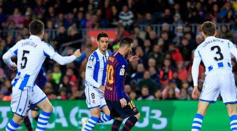 ליאו מסי מוקף (La Liga)