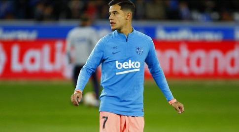 פיליפה קוטיניו בחימום (La Liga)