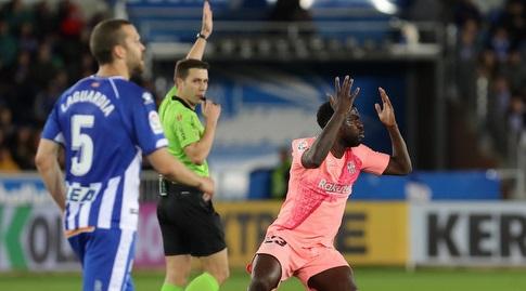 סמואל אומטיטי מאוכזב (La Liga)