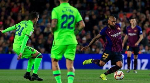 ארתורו וידאל עם הכדור (La Liga)