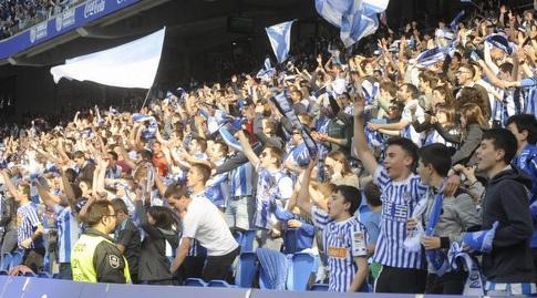 אוהדי ריאל סוסיאדד חוגגים (La Liga)