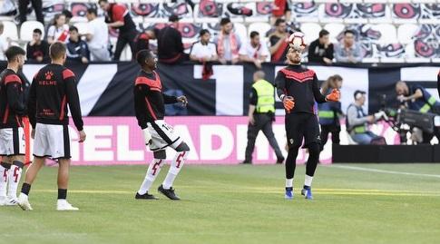 שחקני ראיו בחימום (La Liga)