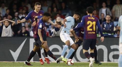 סופיאן בופאל מול הגנת ברצלונה (La Liga)