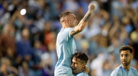 יאגו אספאס חוגג. ימשיך להוביל את התכולים, אבל זה לא יספיק לצמרת (La Liga)