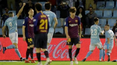 שחקני ברצלונה מאוכזבים, שחקני סלטה ויגו בטירוף (רויטרס)