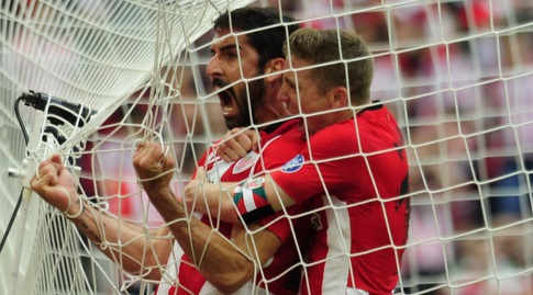 איקר מוניאין חוגג עם ראול גארסיה (La Liga)