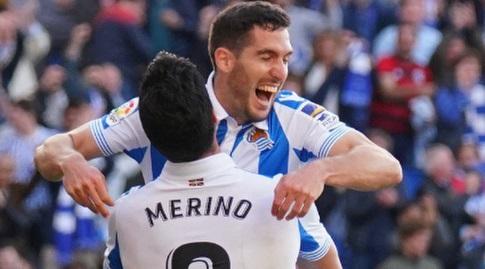 יוסבה סלדואה חוגג עם מיקל מרינו (La Liga)