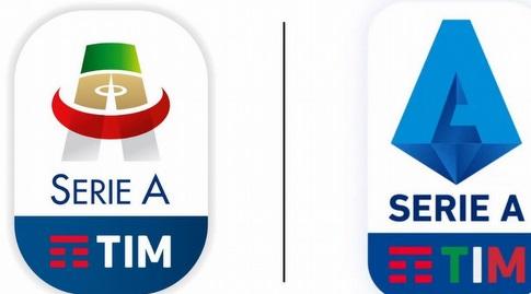 הלוגו החדש של הסריה A בימין, הלוגו הישן בשמאל (מערכת ONE)