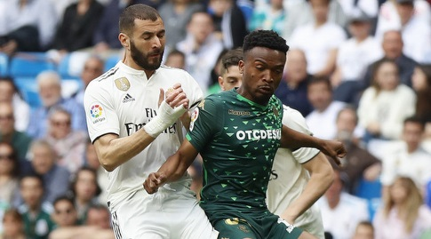 קארים בנזמה נאבק עם ווילפריד קאפטום (La Liga)