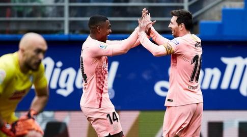 ליאו מסי ומלקום חוגגים (La Liga)