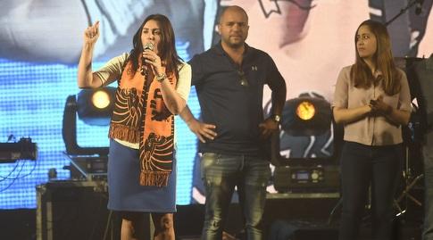 מירי רגב על הבמה (עמית שיסל)