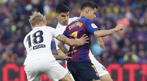 פיליפה קוטיניו שומר על הכדור (La Liga)