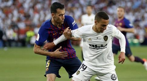 סרחיו בוסקטס עם רודריגו מורנו (La Liga)