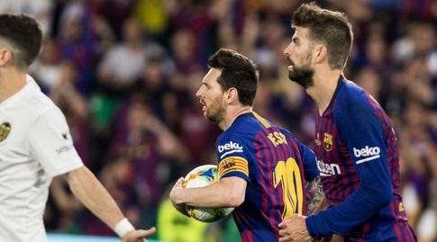 ג'רארד פיקה עם ליאו מסי (La Liga)