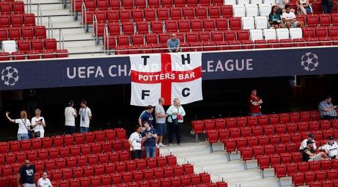אוהדי טוטנהאם באצטדיון במדריד (רויטרס)