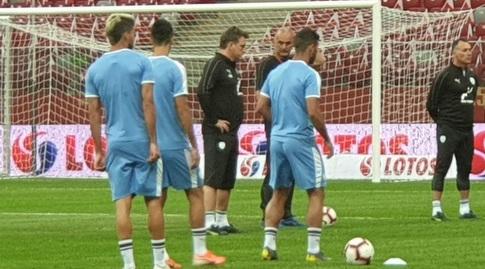 שחקני נבחרת ישראל באימון המסכם (מאור רחמני)