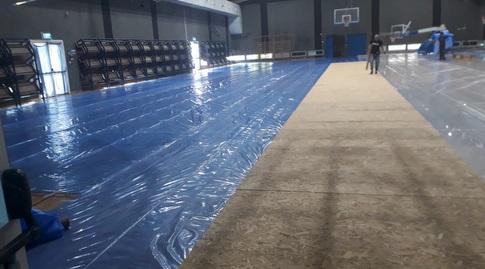 השיפוצים באולם הכדורסל של כפר המכביה (אלון פלר, יחצ)