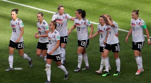 שחקניות נבחרת גרמניה חוגגות (רויטרס)