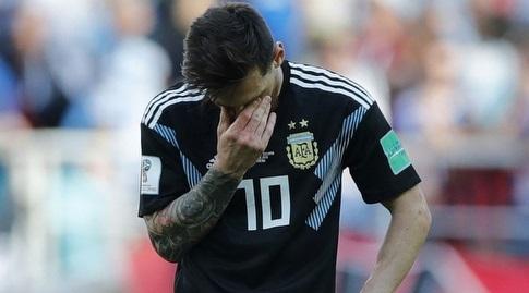 ליאו מסי מאוכזב במדי נבחרת ארגנטינה. תמונה שונה בעוד חודש? (רויטרס)