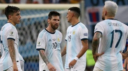 ליאו מסי וארגנטינה מאוכזבים (רויטרס)