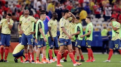 שחקני קולומביה מאוכזבים (רויטרס)