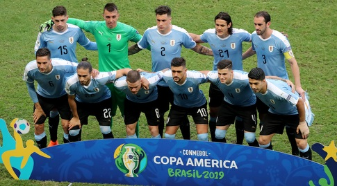 שחקני נבחרת אורוגוואי בקופה אמריקה (רויטרס)