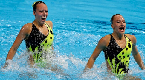 עדן בלכר ושלי בובריצקי (סימונה קסטרווילארי, באדיבות איגוד השחייה בישראל)