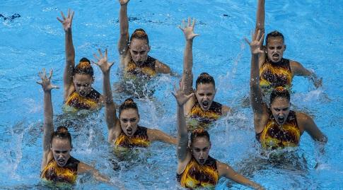 נבחרת השחייה האמנותית (סימונה קסטרווילארי, באדיבות איגוד השחייה בישראל)