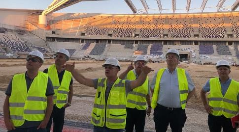 הסיור מטעם מנהלת הליגות וההתאחדות באצטדיון בלומפילד המחודש (ההתאחדות לכדורגל)