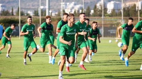 שחקני מכבי חיפה באימון (איציק בלניצקי)