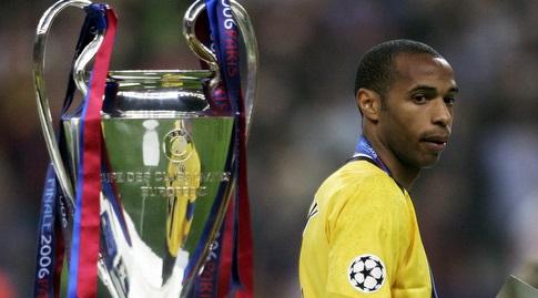 תיירי הנרי בגמר ב-2006. היה כל כך קרוב, אבל בסוף הוא כן זכה בגביע הזה (רויטרס)
