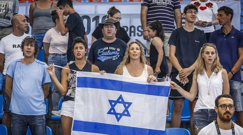 אוהדים ישראלים ביציע (איגוד הכדורסל)