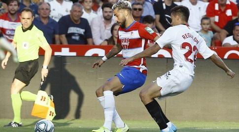 סרחיו רגילון מנסה לקחת את הכדור (La Liga)