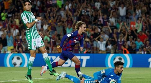 אנטואן גריזמן רגע אחרי הגול (La Liga)