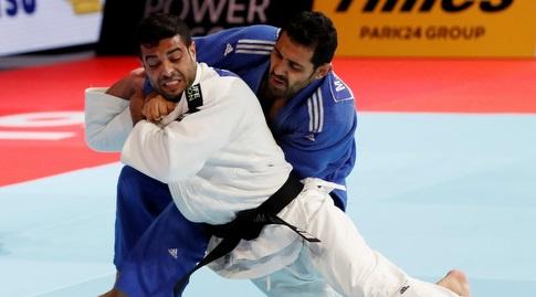 שגיא מוקי מול עבדלאל המצרי בחצי הגמר (רויטרס)