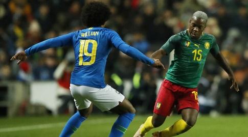 ז'אנדו פוקס מול וויליאן במשחק ידידות מול ברזיל (רויטרס)