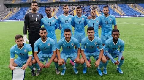 שחקני הנבחרת הצעירה במשחק נגד קזחסטן (ההתאחדות לכדורגל)