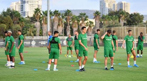 שחקני מכבי חיפה באימון (חגי מיכאלי)