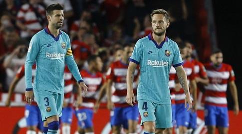 איבן ראקיטיץ' וג'רארד פיקה מאוכזבים (La Liga)
