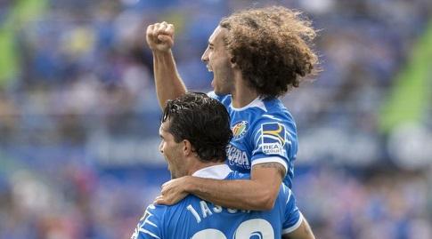ג'אייסון וקוקויירה חוגגים (La Liga)
