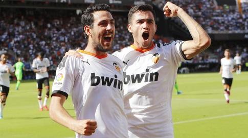 מקסי גומס ורודריגו מורנו חוגגים (La Liga)