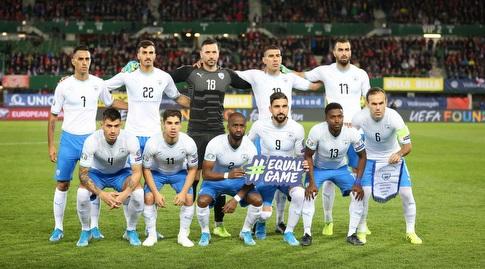 שחקני נבחרת ישראל בתמונה הקבוצתית (רדאד ג'בארה)