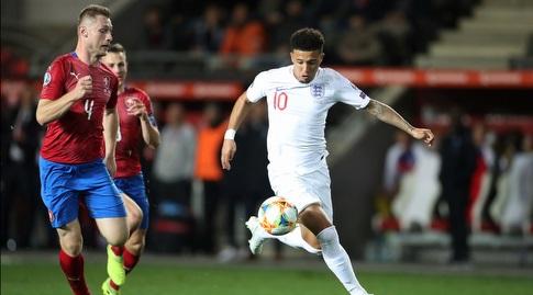 ג'יידון סאנצ'ו במדי נבחרת אנגליה (רויטרס)