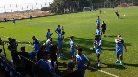 שחקני נבחרת ישראל באימון (מערכת ONE)
