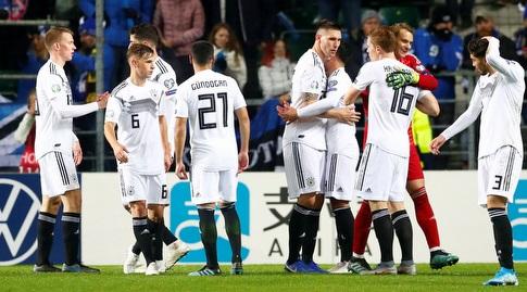 שחקני נבחרת גרמניה. יבטיחו העפלה ליורו מול בלארוס? (רויטרס)