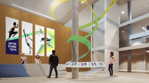 """הכניסה למוזיאון, שנבנה בימים אלה בבית מכבי החדש (יח""""צ)"""