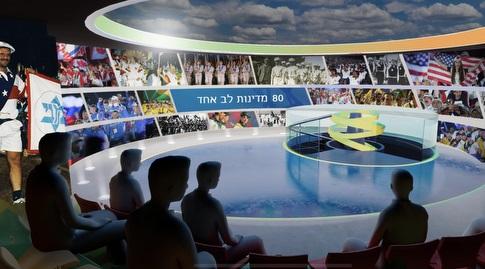 """טכנולוגי ומתקדם. המוזיאון לספורט היהודי כפי שעוצב אדריכלית (יח""""צ)"""