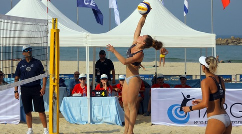 טורניר כדורעף החופים העולמי הראשון בישראל (דיויד סלברמן, איגוד הכדורעף)