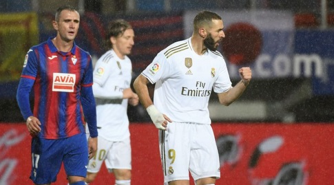 קארים בנזמה חוגג (La Liga)