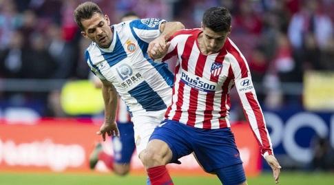 אלברו מוראטה ו-ויקטור סאנצ'ס במאבק (La Liga)